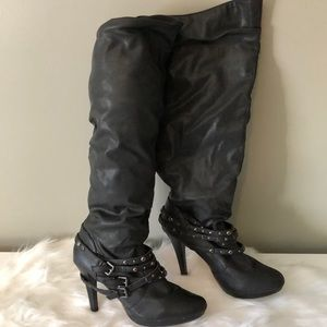 High pull up boots size 10